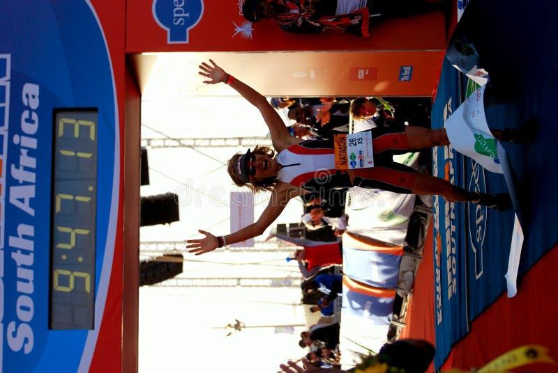 Ironman 2012 triathlete winner royalty free stock images