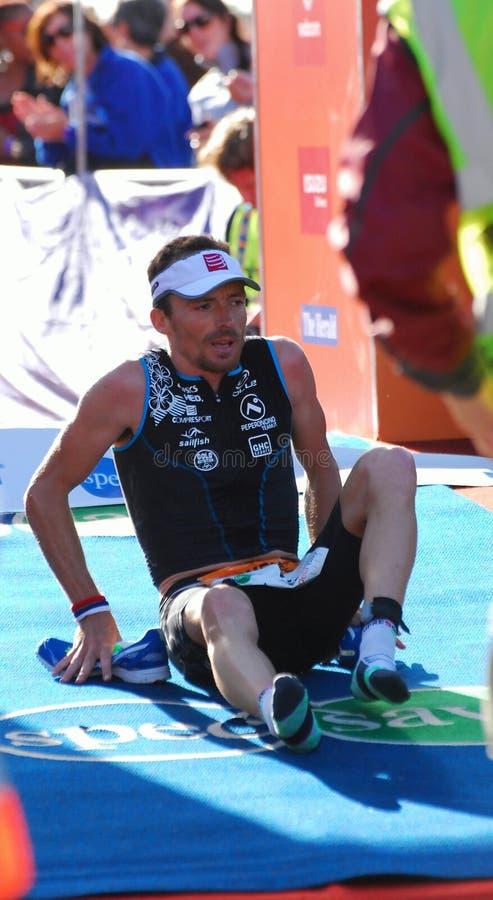 Ironman 2012 triathlete winner royalty free stock photo