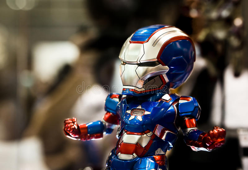 Ironman action figure. Ironman Patriot action figure from Ironman royalty free stock image