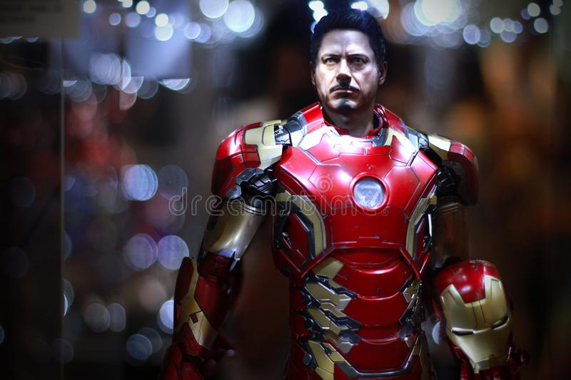 IRONMAN Figure Model 1/4 scale on display royalty free stock images