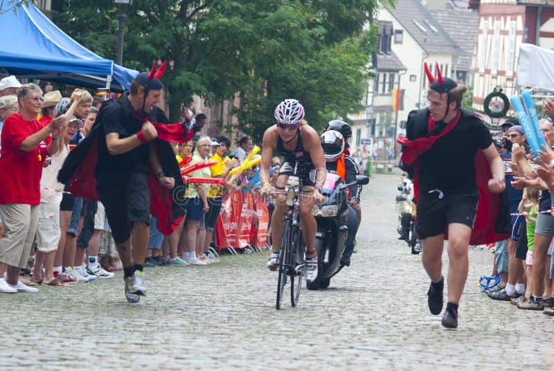 Ironman Frankfurt royalty-vrije stock foto's