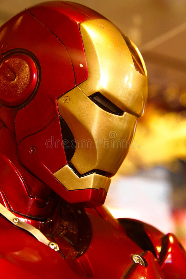 Ironman huvudmodell fotografering för bildbyråer