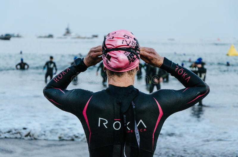 Ironman 70 3 Lima - Peru 2018 lizenzfreie stockbilder
