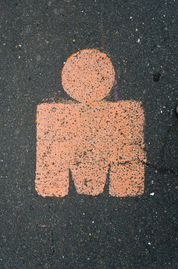 Ironman Logo On The Road. This is the traditional marker of the Ironman competition route. Was shot in Austria 2011 stock images