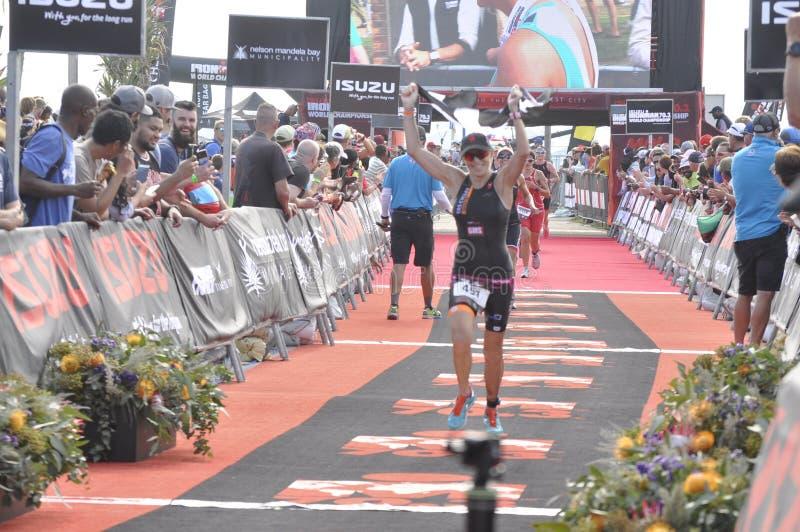 Ironman 70 mästerskap för 3 värld i portelizaeth i Sydafrika arkivfoton