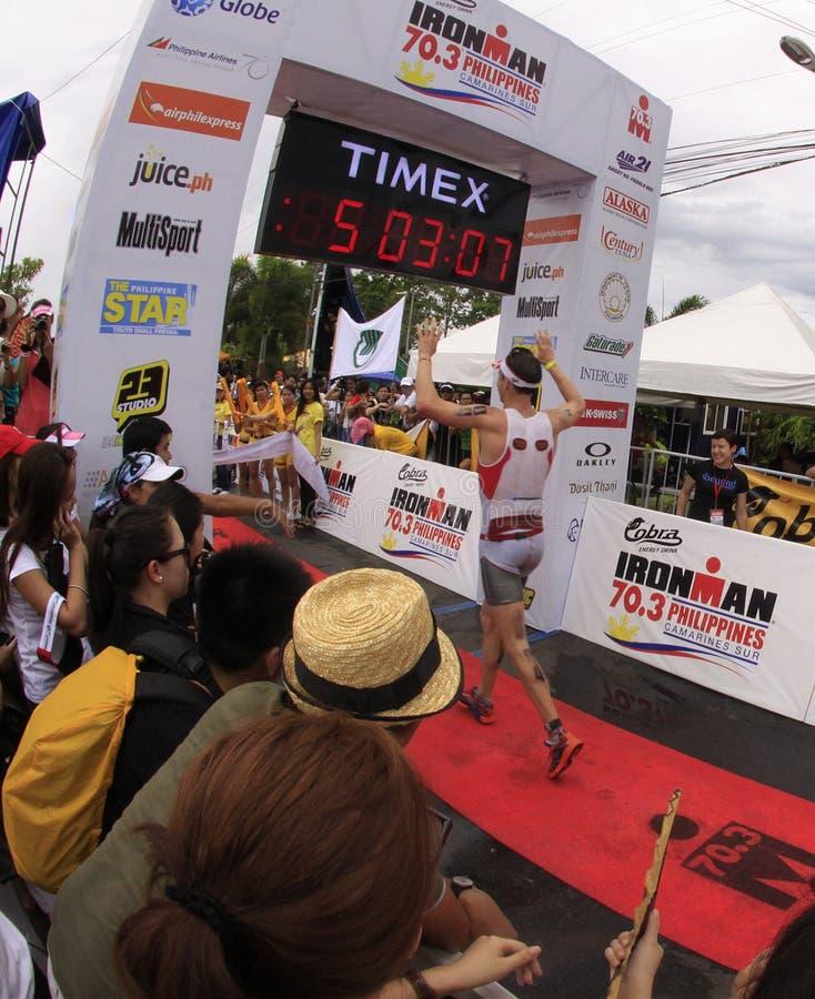 Ironman Philippines Marathon Run Race Finish Editorial Image