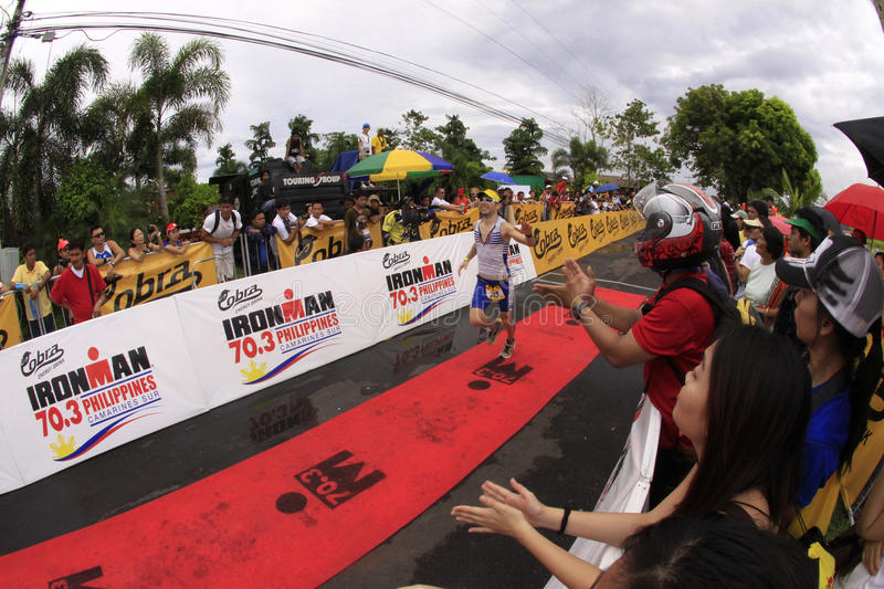 Filipino Naked Runners Cheered on by Crowd Editorial Stock