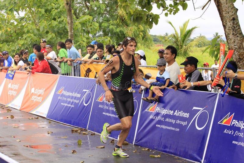 Ironman Philippines winner Jesse Thomas stock image
