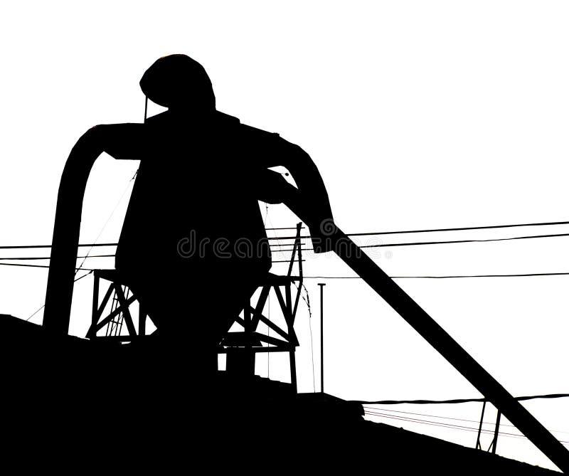 Ironman-Schattenbild, das Bronx aufpasst lizenzfreies stockbild