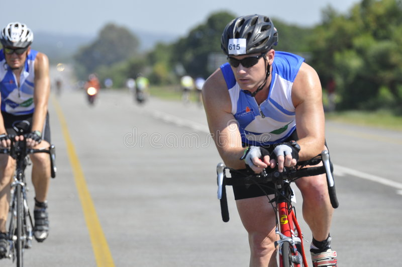 Ironman south African runner stock image