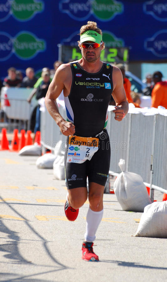 Ironman triathlete Raynard Tissink royalty free stock photography
