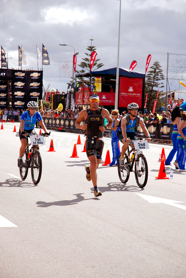 Ironman triathlon Zuid-Afrika royalty-vrije stock foto's