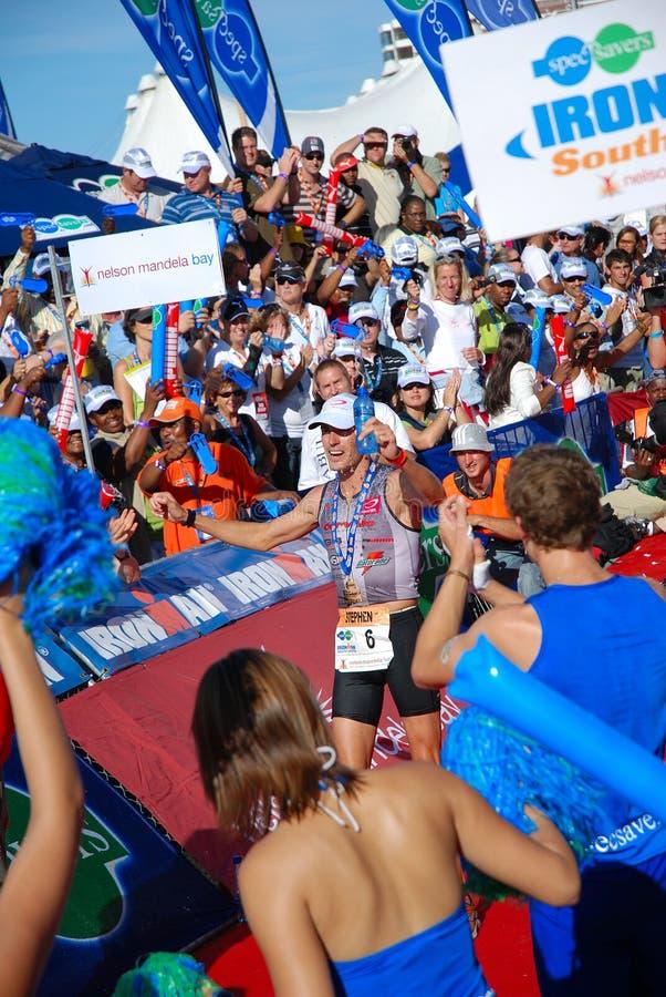 Ironman winner Stephen Bayliss royalty free stock image