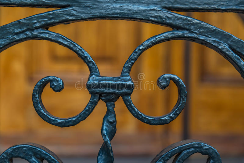 Ironwork i charleston royaltyfri bild