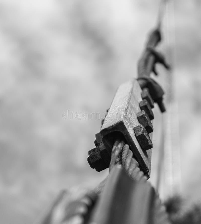 Ironwork i svartvitt royaltyfria foton