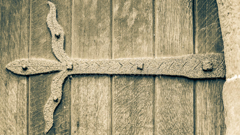 Ironwork på dörren A royaltyfria foton