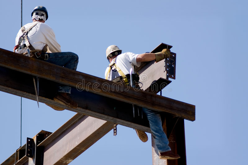 Ironworkers royalty free stock photography