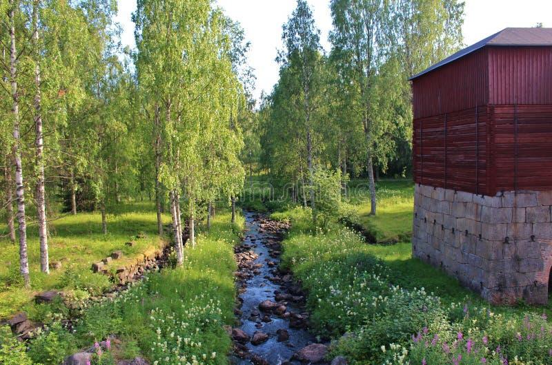 Ironworks Rosfors в Norrbotten стоковое изображение rf