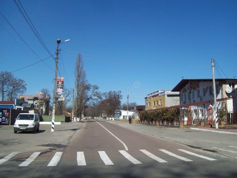 IRPIN, UCR?NIA - 27 DE MAR?O DE 2011 Povos nas ruas na cidade imagens de stock royalty free