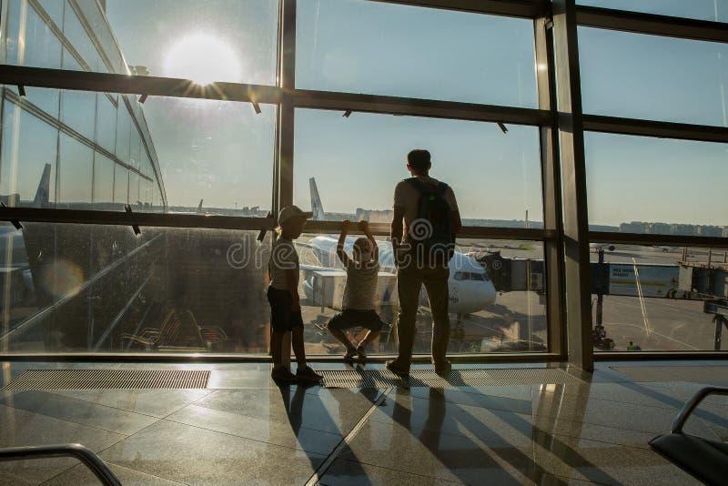 Irport Vnukovo: pole lotnisko obraz royalty free
