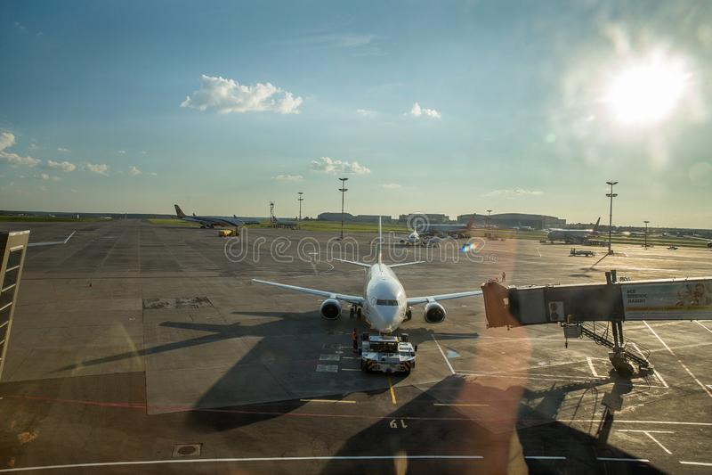 Irport Vnukovo: pole lotnisko obrazy royalty free