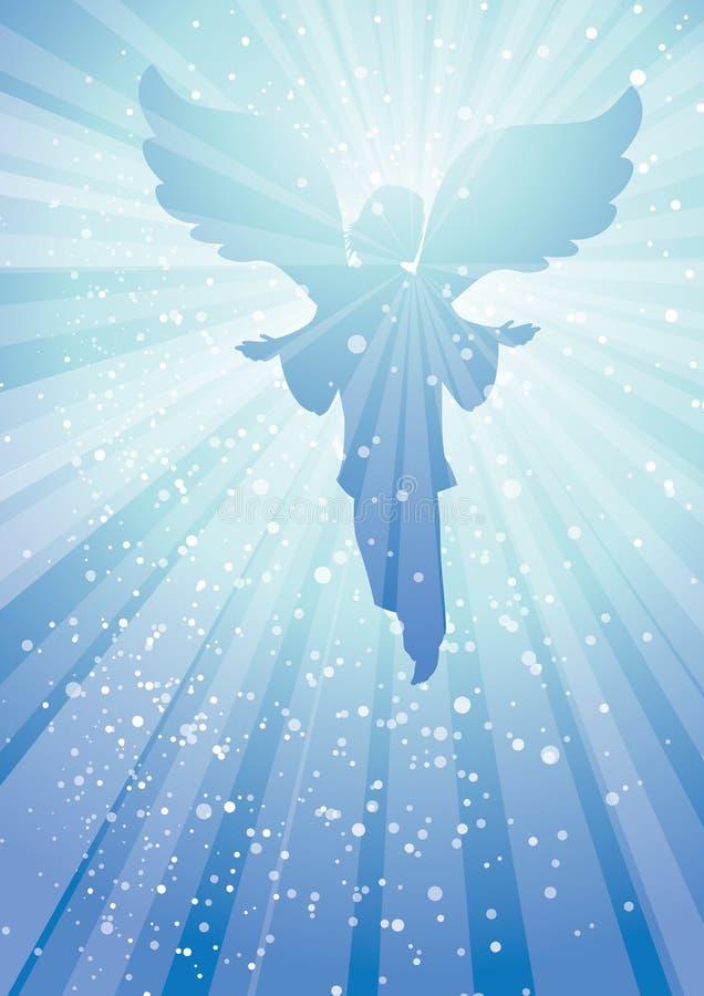 Irradia o anjo ilustração royalty free