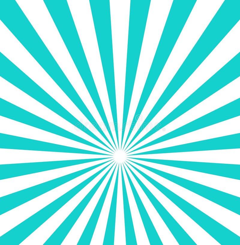 Irradia o raio da ilustração do vetor do fundo, o branco ou o azul do projeto center do contexto ilustração do vetor