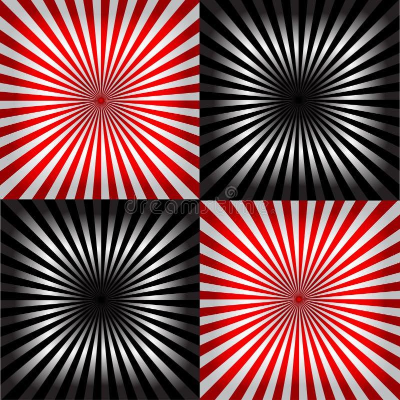 Irradie el fondo rojo negro y blanco del modelo y libre illustration