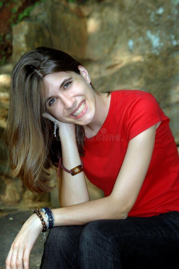Download Irradilo sorriso fotografia stock. Immagine di attraente - 7313764