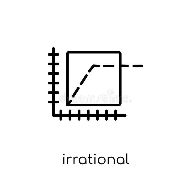 Irrationell överdådsymbol  royaltyfri illustrationer
