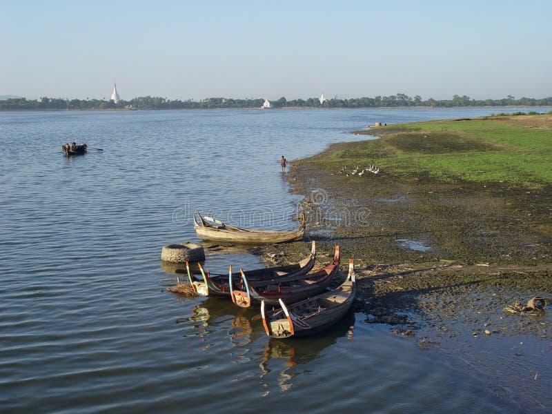 irrawaddy河 库存照片
