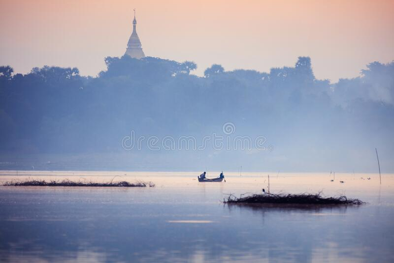 Irrawaddy River. Life on Irrawaddy river, Manndalay Myanmar royalty free stock photography