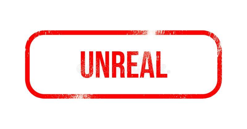 Irreale - gomma rossa di lerciume, bollo illustrazione vettoriale
