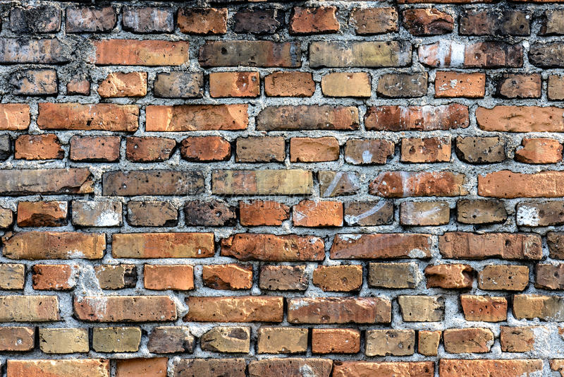 Irregular brick wall. Camera Full Frame Lens 105 micro VR F9 1/100s ISO 250 royalty free stock image