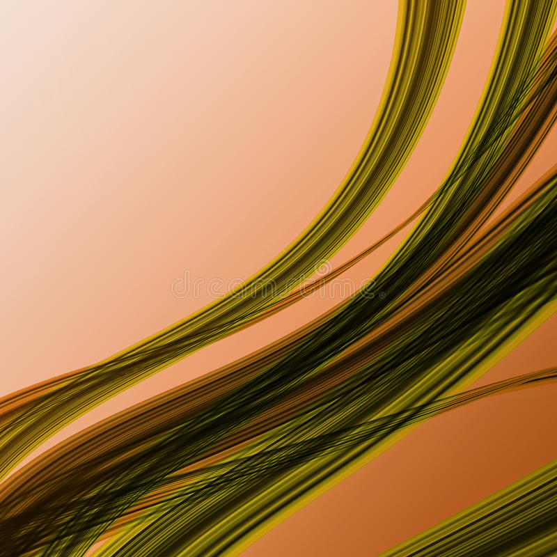 Irregular Curved Colored Stripes Stock Photography