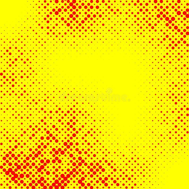 Irregular halftone pop art, polka dot pattern stock illustration