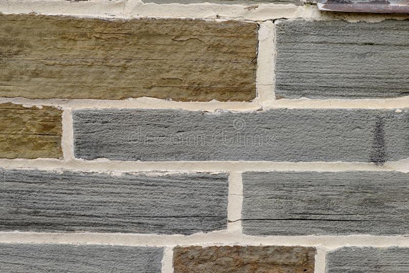 Irregular Shale Brick Wall Closeup Texture royalty free stock photo