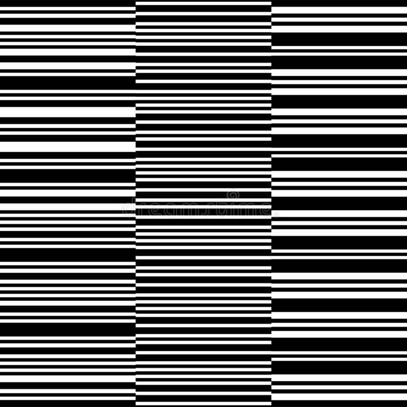 Irregularly lampasy Czarny i biały usterki tło Elegancki dekoracyjny linia set Geometrical prosty pionowo wizerunek wektor ilustracja wektor