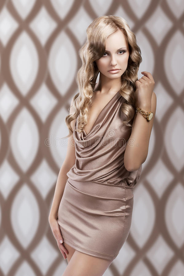 Irresistible beautiful vintage woman stock image