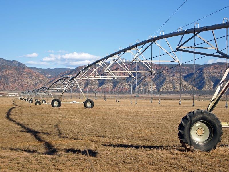 Irrigação da exploração agrícola foto de stock royalty free