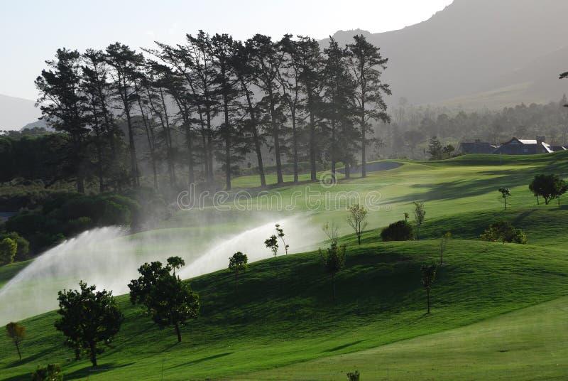 Irrigação do golfe fotos de stock
