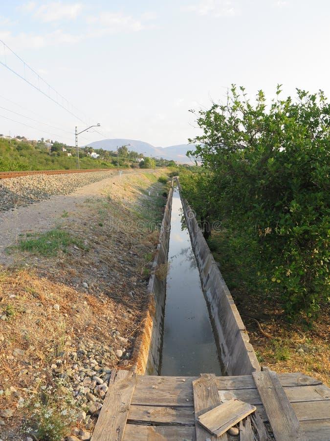 Irrigatiekanaal stock afbeelding