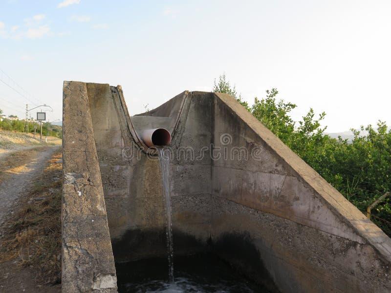 Irrigatiekanaal royalty-vrije stock afbeelding