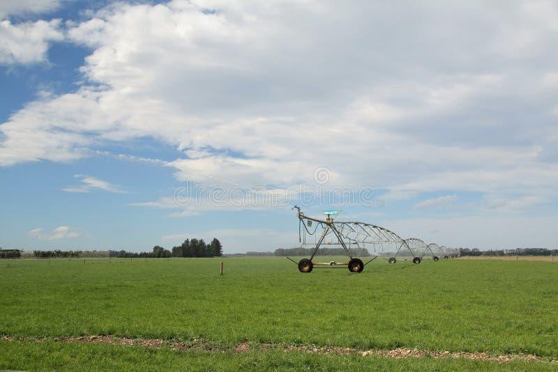 Irrigatiesysteem op de Cantebury-vlaktes Nieuw Zeeland royalty-vrije stock fotografie