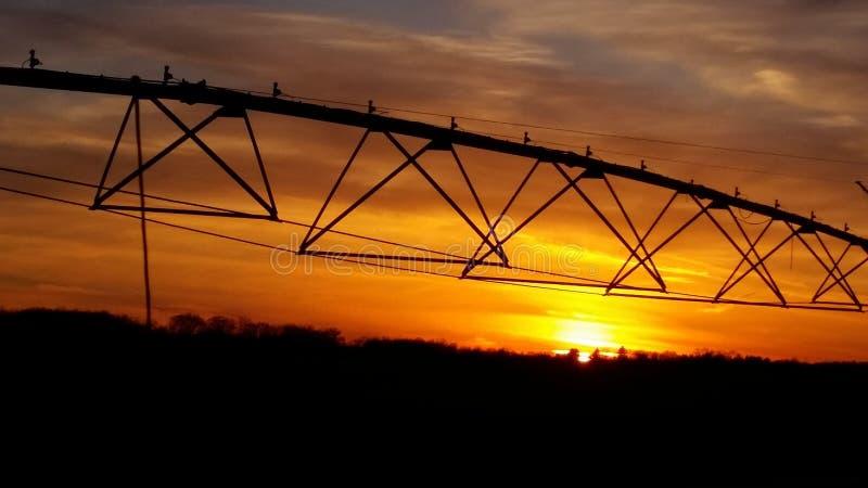 Irrigatietijd stock afbeelding