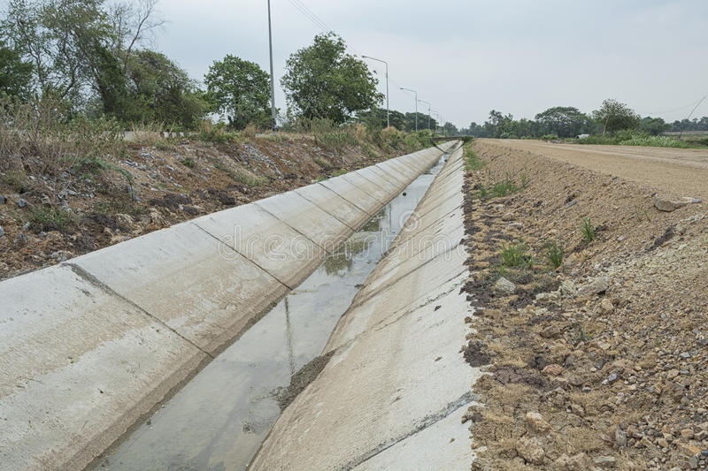 Irrigation Canal Dry stock images
