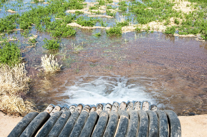 Irrigation Canal & Siphon Tubes Royalty Free Stock Photo