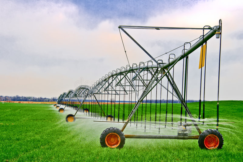 irrigation de zone photo stock