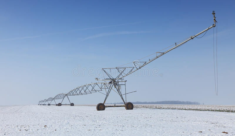Download Irrigation pivot in winter stock image. Image of sprinkler - 23384909