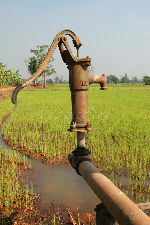 Download Irrigation Pump stock photo. Image of rust, paddy, handle - 468662
